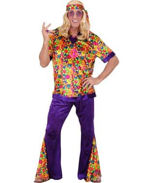 Fato de hippie flower para homem