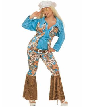 Costume da hippie per donna taglia grande