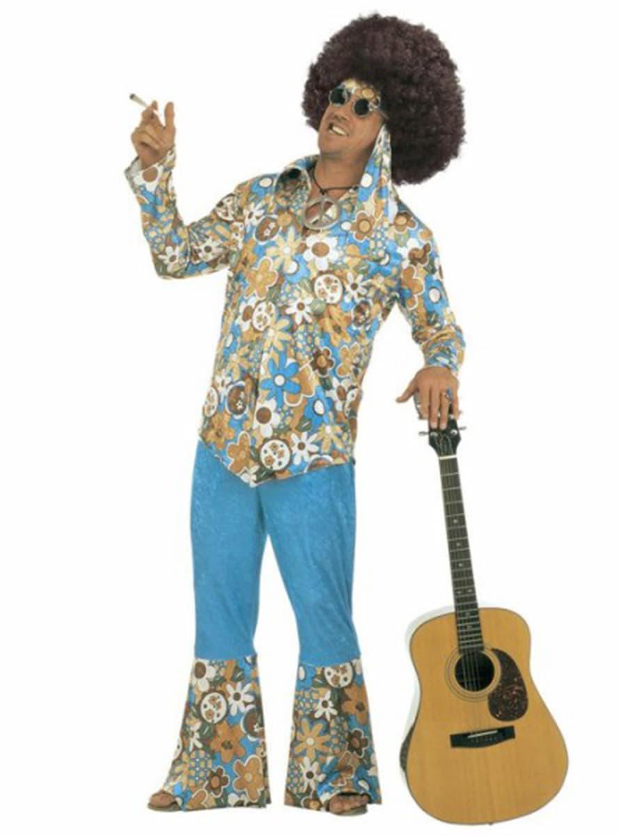 Kostuum hippie voor mannen grote maat