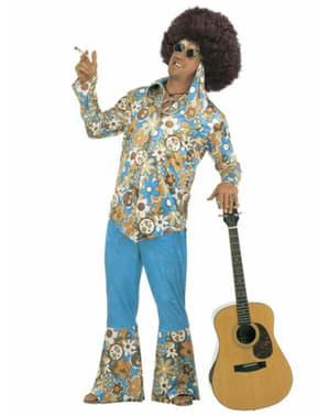Hippie plus size kostyme til Mann
