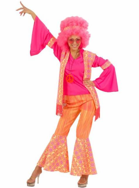 Disfraz de hippie love and fun para mujer