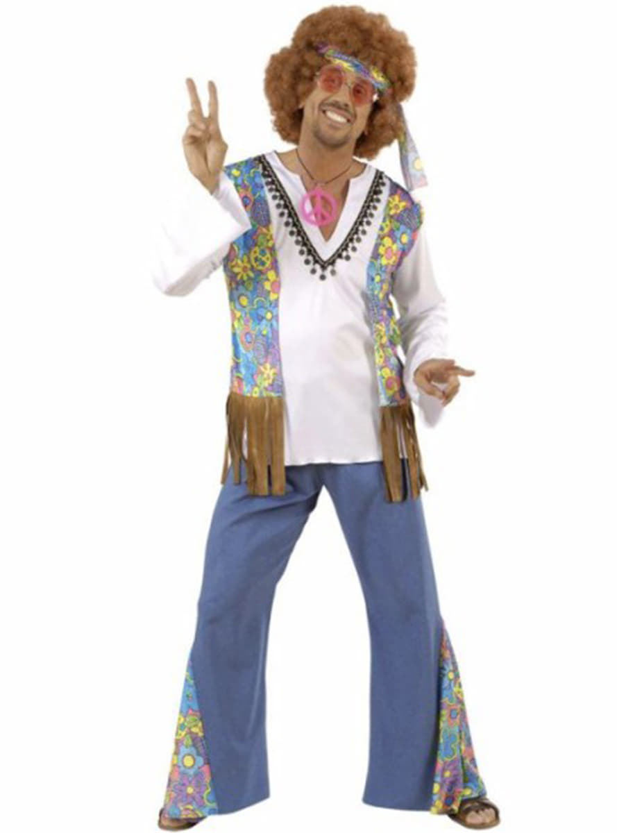Woodstock Festival hippie costume for a man. Express ...