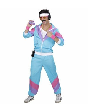 Eighties tracksuit costume for a man
