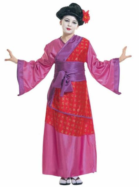 Fato de gueixa tradicional para menina