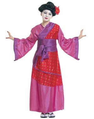 Traditionell Geisha flickdräkt