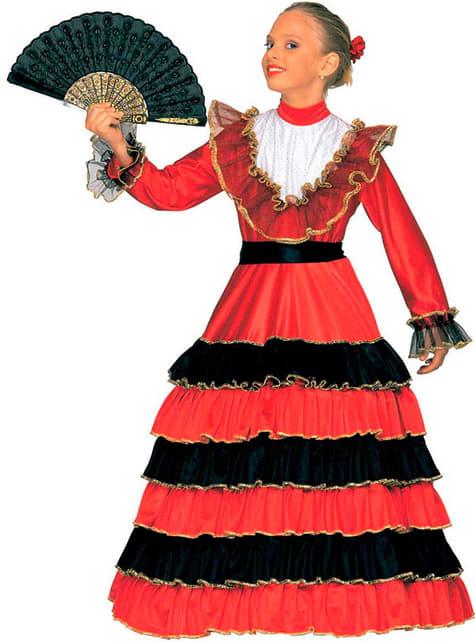 Flamenco dancer costume for a girl