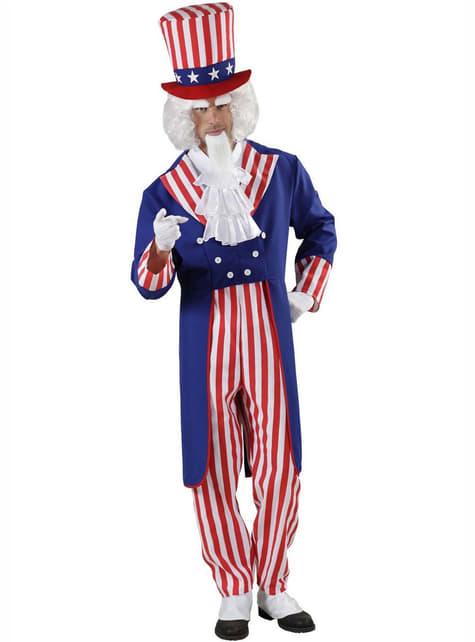Uncle Sam kostume til mænd
