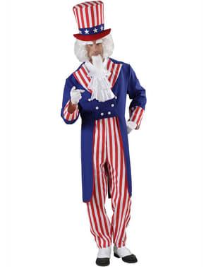 Onkel Sam Kostyme for Mann