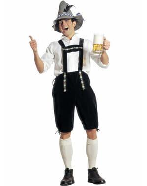 Bayersk lederhosen kostume til mænd