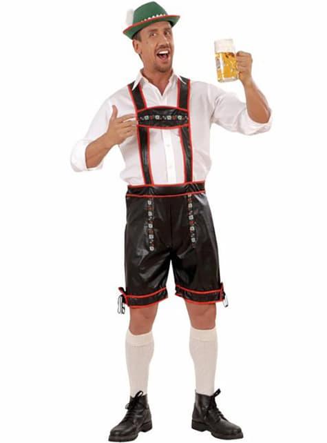 Disfraz alemán lederhose efecto cuero