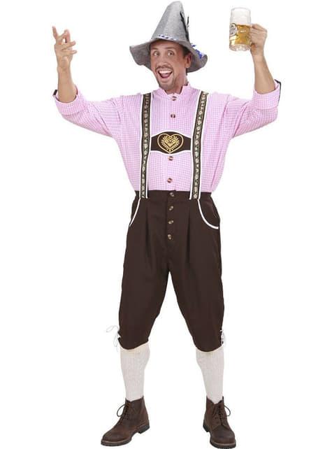Disfraz tirolés lederhose con camisa
