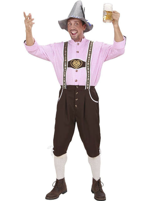 Tyrolean lederhosen costume with shirt