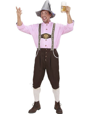 Costume tirolese lederhose con camicia