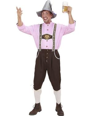 Pinkki tarjoilija-asu miehelle