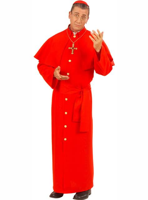 Disfraz de cardenal para hombre