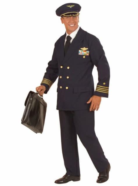 Déguisement pilote médaillé homme