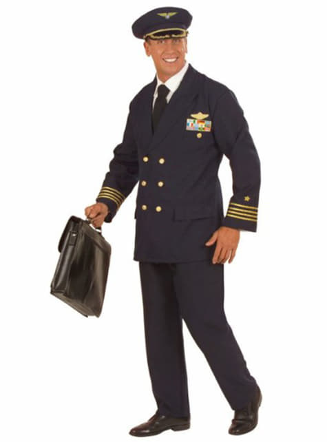 Repülőgép pilóta jelmez férfiaknak