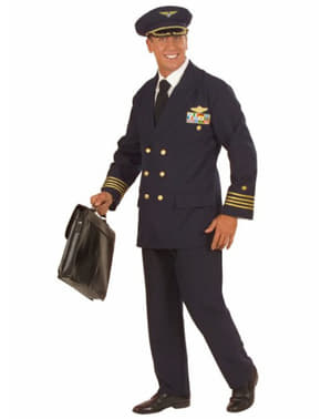 Costume da pilota aereo per uomo