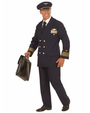 男性のための飛行機のパイロットコスチューム