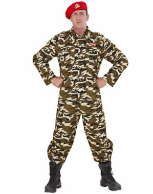 Camouflage vojak kostum za človeka