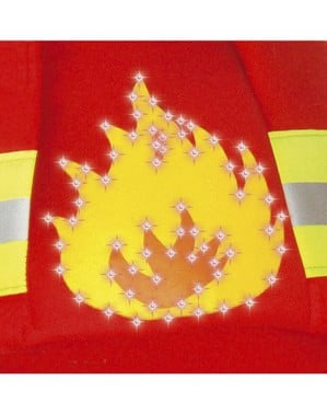 Röd brandman herrdräkt