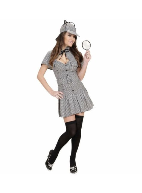 Detective Sherlock costume for a woman