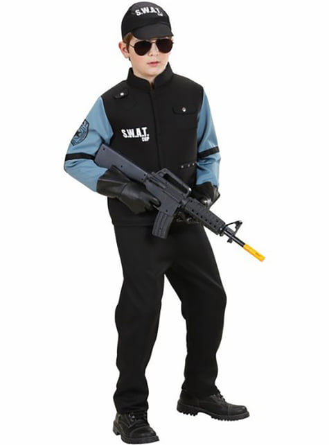 SWAT agent costume for a child