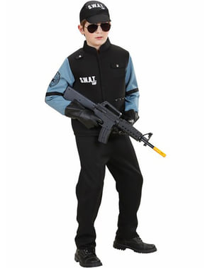 Fato de agente dos S.W.A.T. para menino