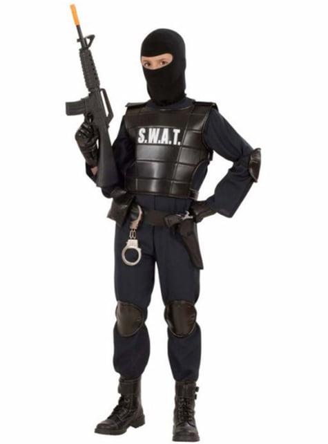 Fato de agente especial dos S.W.A.T. para menino