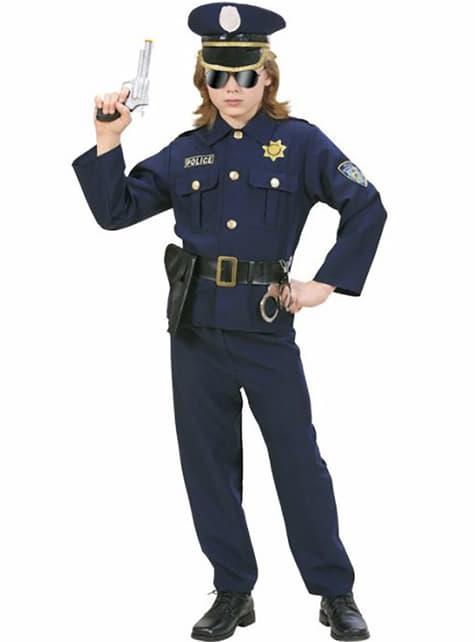 Fato de oficial de polícia para menino