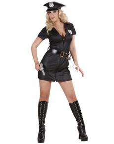 Disfraz de policia sexy efecto cuero
