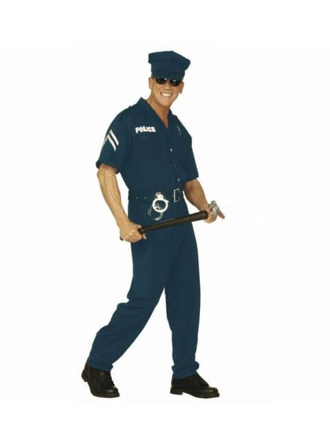 Police agent costume for a man