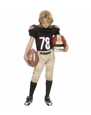 Maskeraddräkt amerikansk fotbollsspelare barn