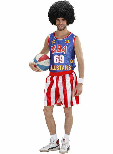 Basketball player costume for a man