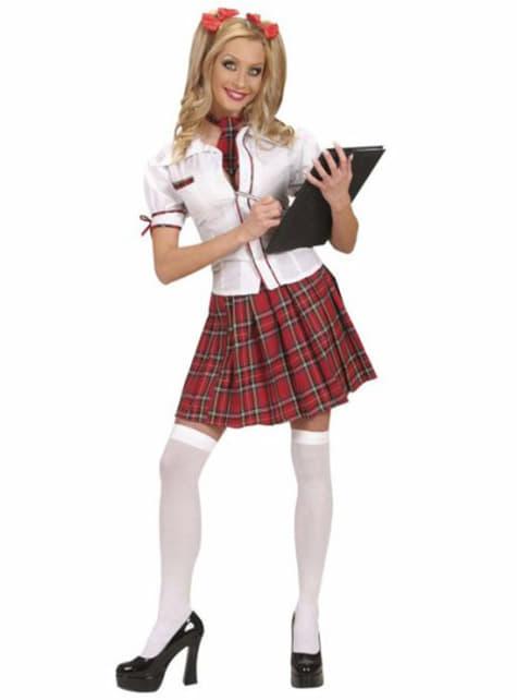Kostium uczennica z aplikacją damski