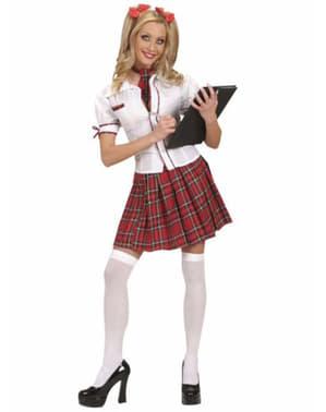 Disfraz de colegiala aplicada para mujer