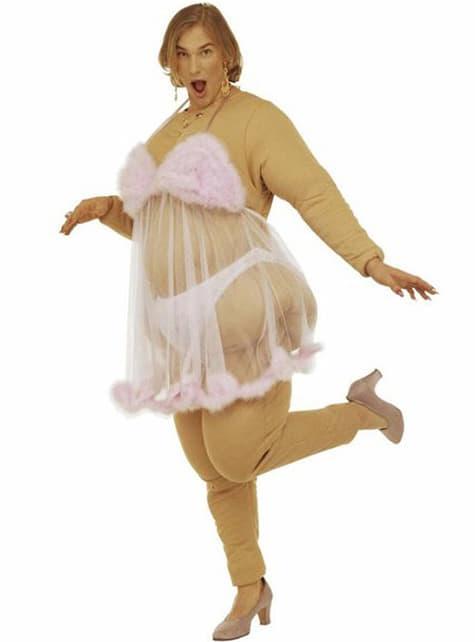 Stripper i rosa kostume til mænd