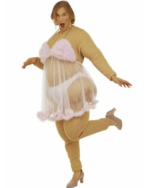 Stripper i Rosa Kostyme til Menn