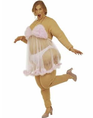 Striptizeta u ružičastom kostimu za muškarce