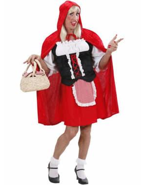 Rødhette Kostyme for Mann