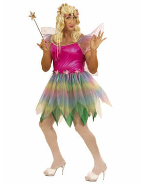 Rainbow fairy costume for a man