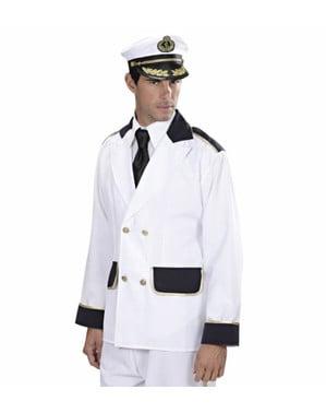 Casaco de capitão de barco para homem