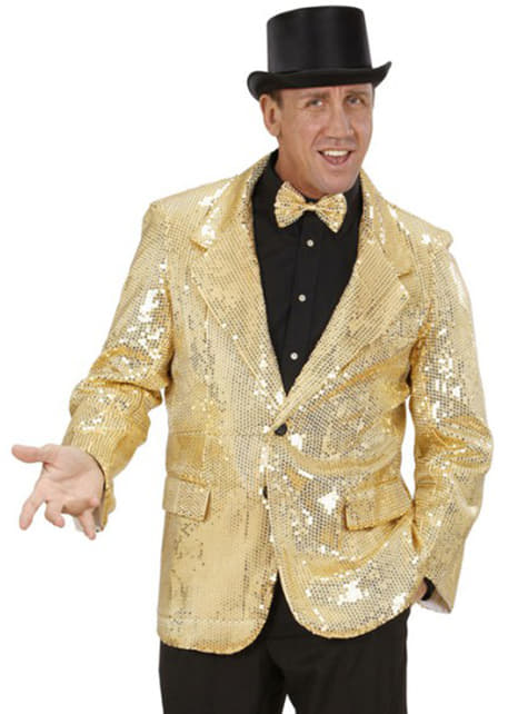 Gold sequin jacket for a man