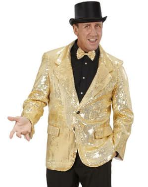 Jacke mit goldfarbenen Glimmerblättchen für Herren