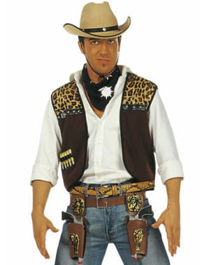 Cowboy costume kit for a man