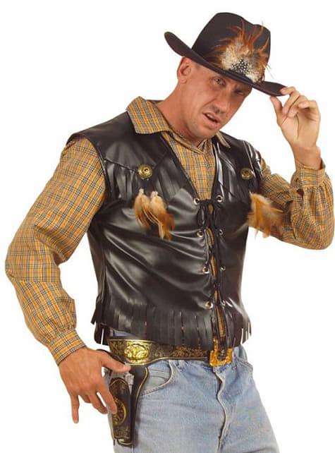 Cowboy waistcoat for a man