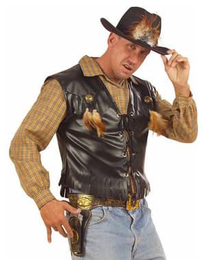 Colete de cowboy para homem