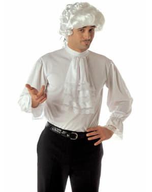 Camisa com folhos barroca