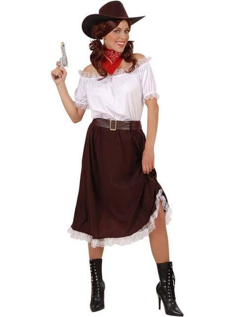 Schießfreudiges Cowgirl Kostüm für Damen