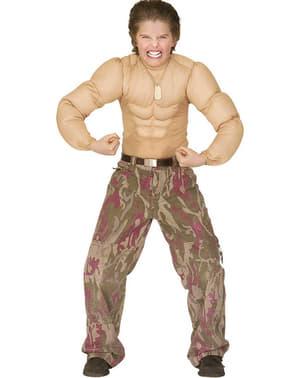 Muskulös kropp pojkdräkt